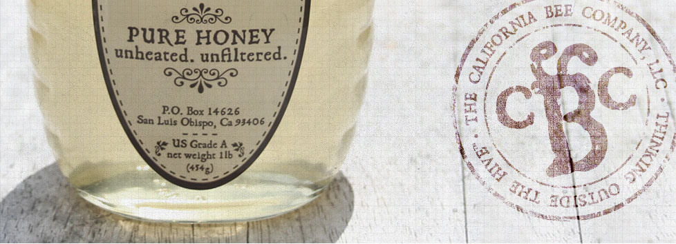 California Bee Company Honey Package Design