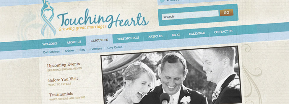 Touching Hearts Website Design and Development